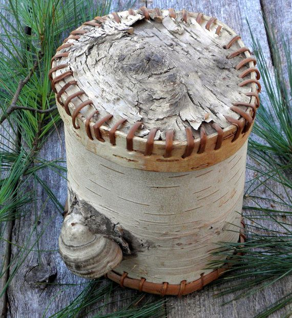 BIRCH BARK BASKET Vintage Container with by TheRusticWoodshed, $34.00