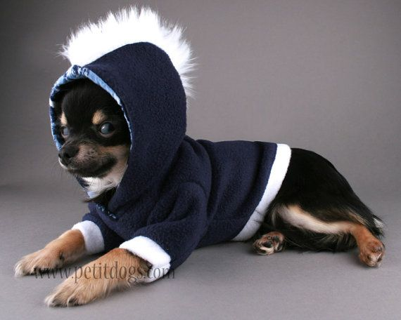 SALE Dog clothes SMALL  Navy Blue and White Fur by PetitDogApparel, $19.00
