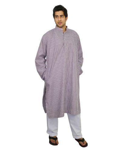 kurta pajama set for men Indian dress for summer Tuscan Red white striped , size L ShalinIndia,http://www.amazon.com/dp/B00J4LQWYY/ref=cm_sw_r_pi_dp_LmgHtb1GRJRPFY30
