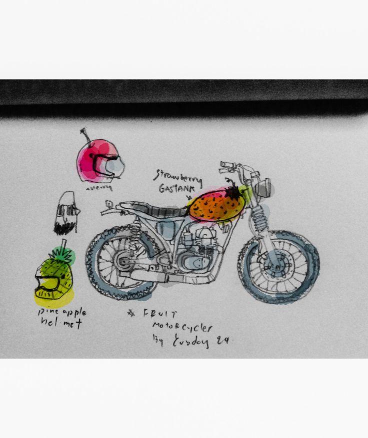 Motorcycle fruit