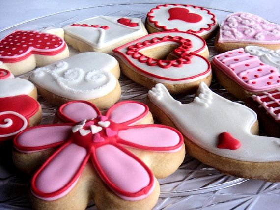 #Heart and #flower #cookies