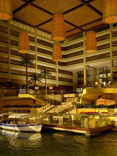 Indoor Dock and Gondola at the JW Marriott Desert Springs Resort  Spa, Palm Desert, CA