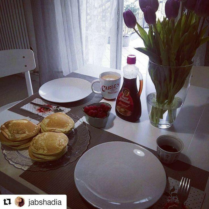 Grazie amore per la colazione!    #Repost @jabshadia with @repostapp ・・・ Buongiorno mondo...dayoff --» PANCAKE! #goodmorning #buongiorno #colazione #colazioneitaliana #breakfastathome  #breakfast #dayoff #pancakes #syrup #lamponi #carlosbakery #coffee #raspberries #lazise #gardasee  #lagodigarda #instagarda #instaverona #igersverona #dalbaffolazise