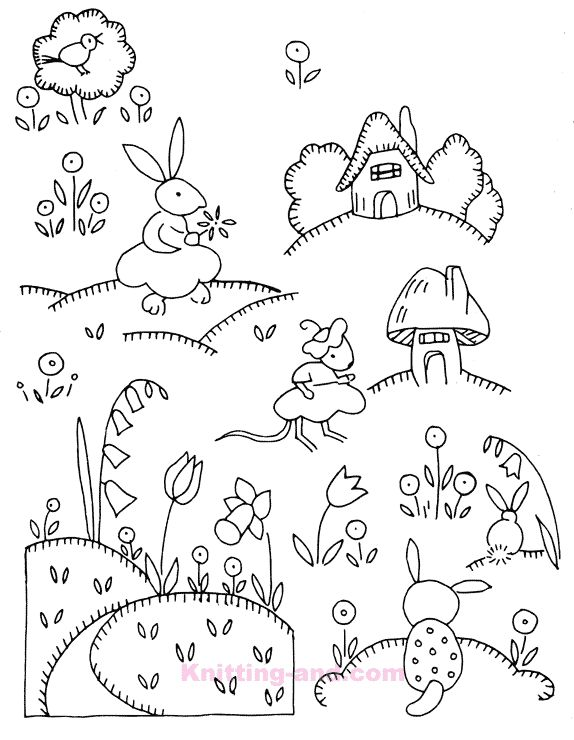 Free Embroidery Design: Weldon's Nursery Designs #20782 c1930's