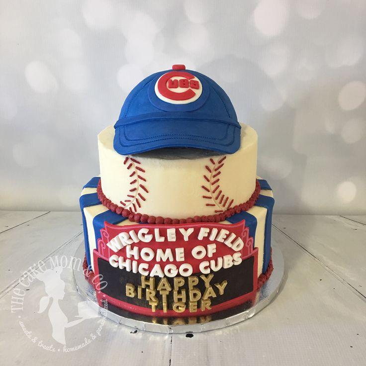 Chicago Cubs Custom Cake #Cake #Cubs #ChicagoCubs #Baseball