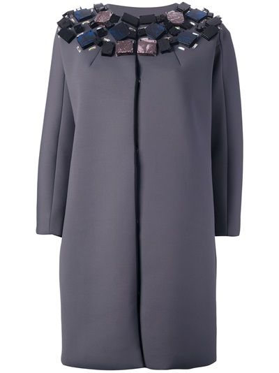 MSGM Embellished Neoprene Coat