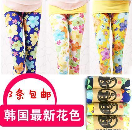 3 пост 2015 весной Детская одежда новый Шелковый цветочные леггинсы печати корейских девушек молоко в штаны мальчик одежда Детская  — 340.82р.