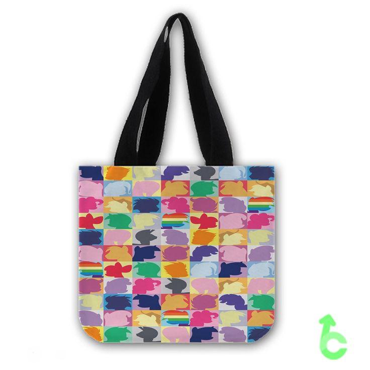 my little pony twilight sparkle pinkie pie rainbow dash Tote Bags
