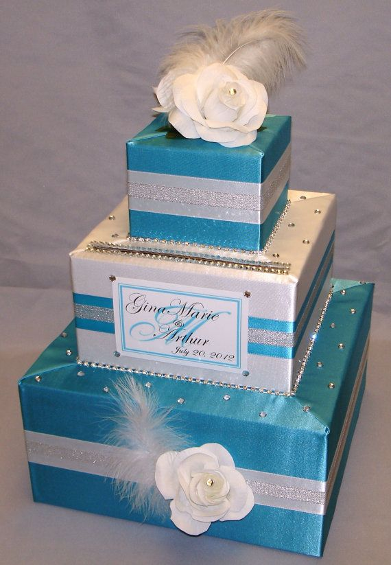 Elegant Custom Made Wedding Card Box -Rhinestones. $95.00, via Etsy.