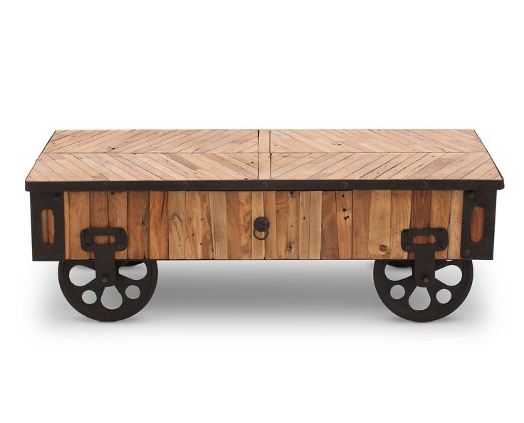 Inspired By Antique Wooden Carts Of The Late Century, The Parquet Factory  Cart Table Is The Unique Vintage Piece Youu0027ve Been Looking For!