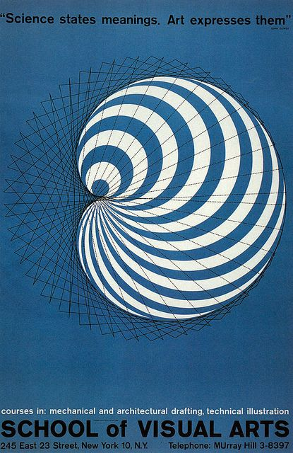 School of Visual Arts Collection: Poster by George Tscherny, 1958