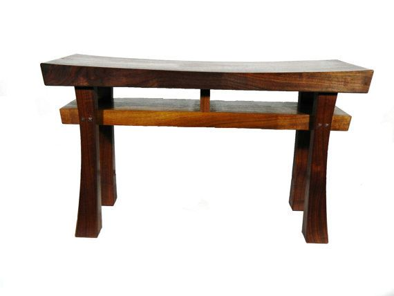 Possible shelf for entry way... Asian Style Stool Bench (Extra Large) Made to Order Maple, Oak, Cherry, Walnut, or Mahogany on Etsy, $435.00