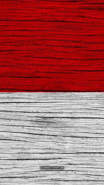 Flag Of Indonesia 4k Asia Wooden Texture Indonesian Flag