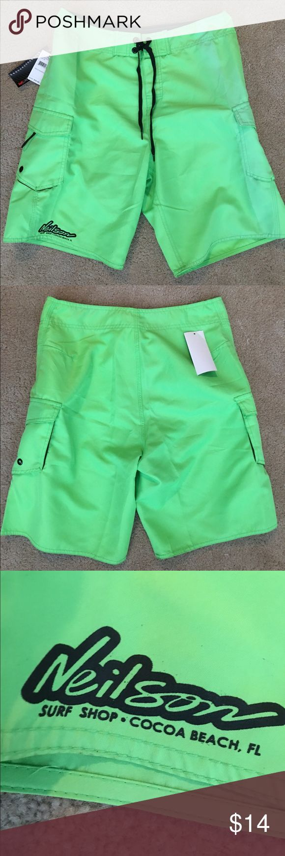 🆕 Men's board shorts NWRT. Size 30. Men's neon green board shorts. Swim or festivals! Shorts