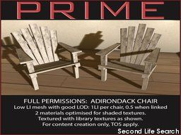 PrimBay - Adirondack chair FP by PRIME