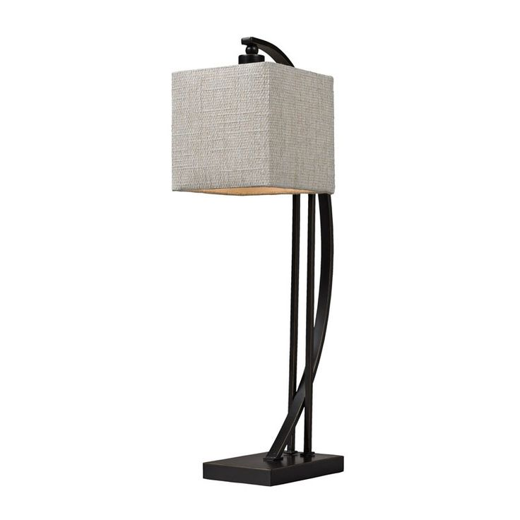 Dimond Lighting D150 Arched Metal Table Lamp In Madison Bronze Madison  Bronze