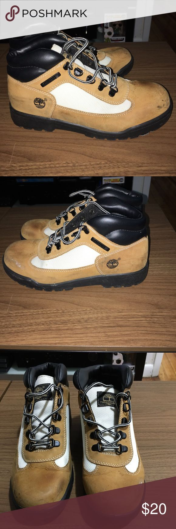 Timberlands Pre-Owned on Sale! They have obviously been through it but not because I have worn them, it's because I don't have the box for them so I've kept them in my closet without a box, I have worn these out & someone stepped on me so that explains the stains & I've worn them to paint but they are still holding up strong Timberland Shoes Winter & Rain Boots