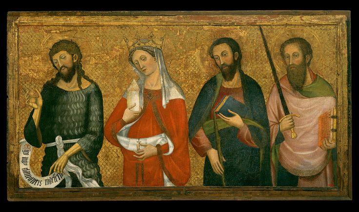 Pere Serra - Saint John the Baptist, Saint Mary Magdalene, Saint James the Less and Saint Paul.