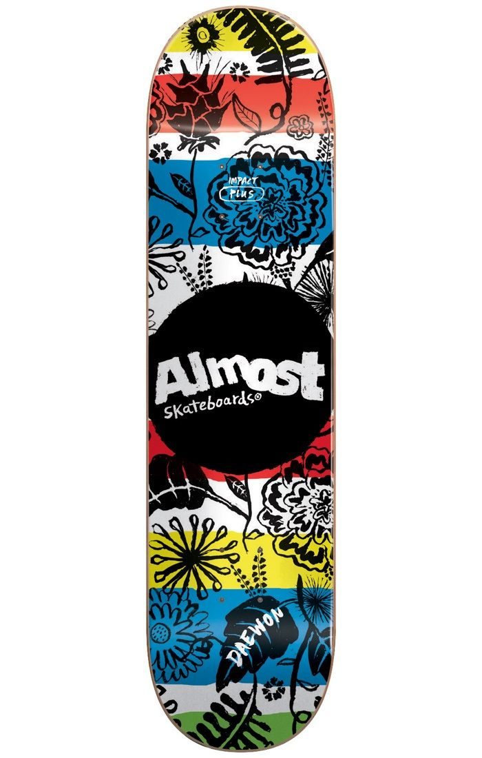 #Almost Skateboards Almost Primal Prints Impact Plus Skateboard Deck #Unleash your wild side with the Primal Prints Skateboard Deck range from Almost! Featuring an animalist aesthetic throughout the entirety of the base, this carnivorous colour-clash makes for one beast of a board! Follow your instincts and make sure to hunt down yours today!Dimensions:Length: 31.6Width: 8.0Wheelbase: 14.0Materials:Construction: 100% 8-Ply Canadian Maple