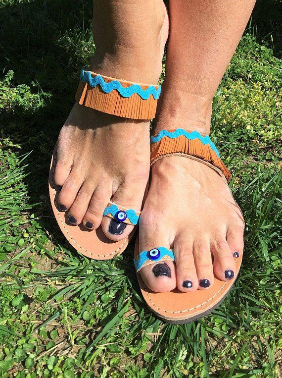 Greek sandals leather sandals Made in Greece Boho sandals