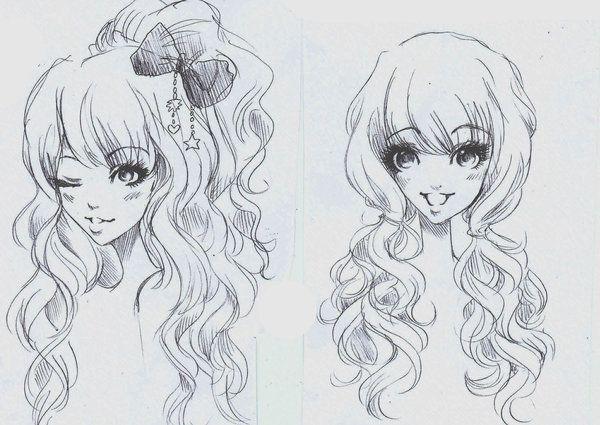 ANIME ART anime girls. . .gyaru style. . .big eyes ...
