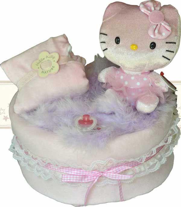 M s de 25 ideas incre bles sobre gateau de hello kitty en pinterest fondant de hello kitty - Gateau de couche hello kitty ...