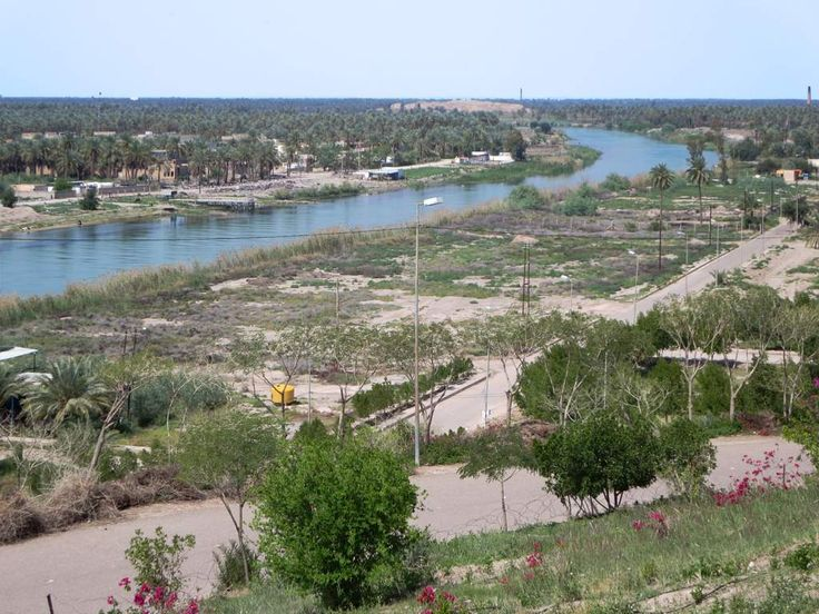 The Euphrates River passes the site of Babylon, Iraq. In antiquity the river flowed right through the city.