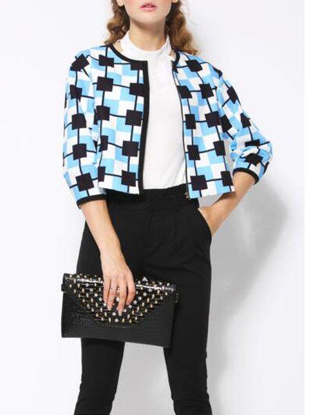 Zipper Short Coat for #fashion #woman