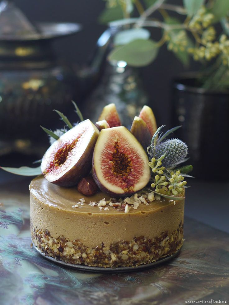 Fig Hazelnut Caramel Cake (No Bake, Fruit-Sweetened, and Free From: gluten