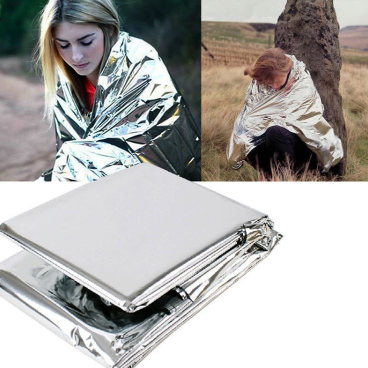 Emergency Survival Rescue Blanket Foil Thermal Space First Aid Silver Rescue Curtain Outdoor