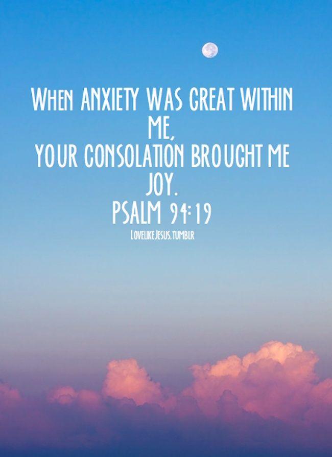 psalm 94 19 god pinterest love me just let it go