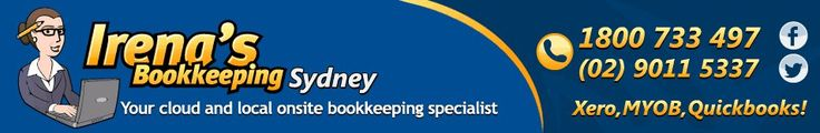Irenas Bookkeeping services is Sydney's best mobile bookkeeper Service. From MYOB, to XERO, and QuickBooks. https://redd.it/3stb7d