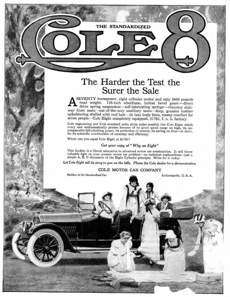 20 best Cole Motor Car Ads images on Pinterest | Automobile, Autos ...