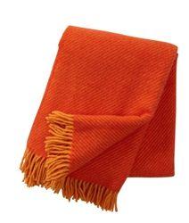 Klippan Linus Orange eco lambs wool throws at Northlight