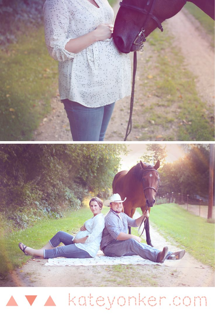 Maternity Shoot with Horse | Rustic Photography