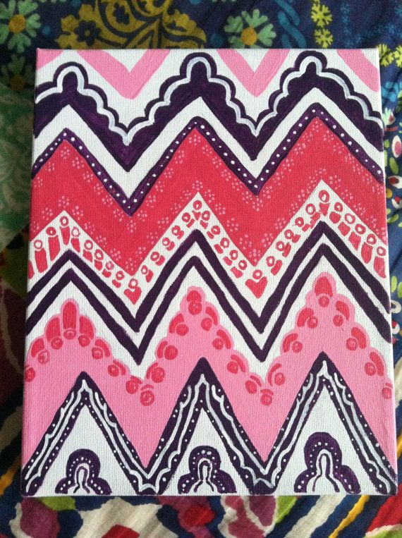 CANVASES BY JB- will paint to request!  #patterned chevron!