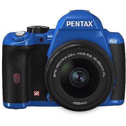 "Pentax K-r 12.4MP DSLR Camera Bundle w/ 18-55mm Lens, 3"" LCD, and HD Video, Blue"