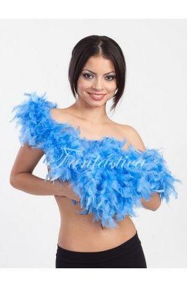 boas de plumas, boas baratas, boas de plumas de colores, boas azules - Tienda Esfantastica