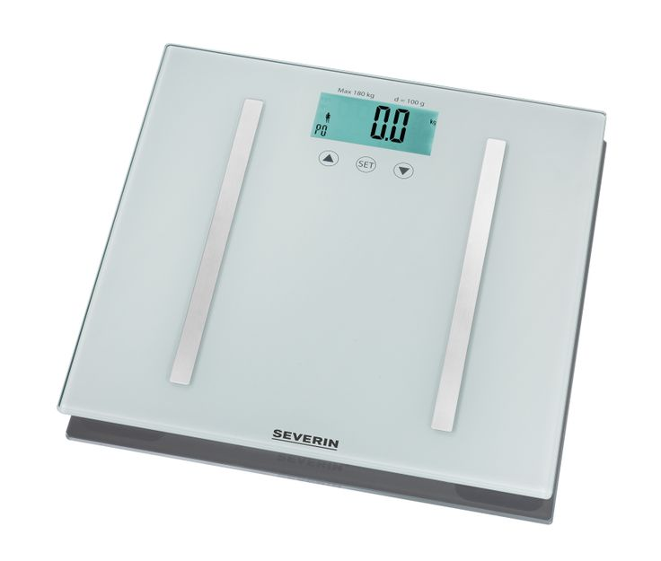 BÁSCULA DE BAÑO CON ANÁLISIS DE GRASA CORPORAL 7010 Embalaje de 4 unidades Margen de pesaje 5-180 kg Analiza el peso, la grasa y los líquidos, la masa de los musculos y los huesos, las calorías necesarias por día y el índice de masa corporal (IMC) Auto encendido a través del sensor tactil Display LCD Display de la batería Tamaño de la plataforma aprox. 300 x 300 mm Electrodos de acero inoxidable pulido Función memoria para 10 usuarios Require 2 pilas de 3 V CR 2032 (incluidas) EAN…