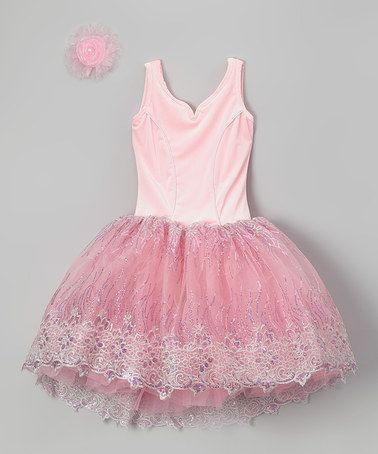 Love this Pink Leotard Dress & Hair clip - Girls by Curtain Call Costumes on #zulily! #zulilyfinds