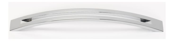 Alno A422-8 Slit Top 8 Inch Center to Center Arch Cabinet Pull Polished Chrome Cabinet Hardware Pulls Arch