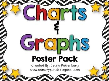 80 best free tpt math 3rd 5th images on pinterest teaching ideas this pack contains both color and bw posters to review charts and graphs fandeluxe Images