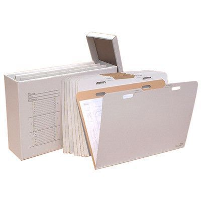 Advanced Organizing Systems Vertical Flat File System Filing Box & Reviews…