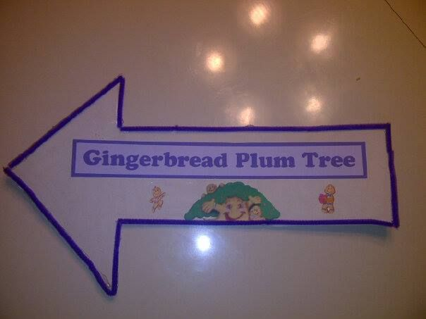 Candyland Birthday Party Diy Gingerbread Plum Tree Sign