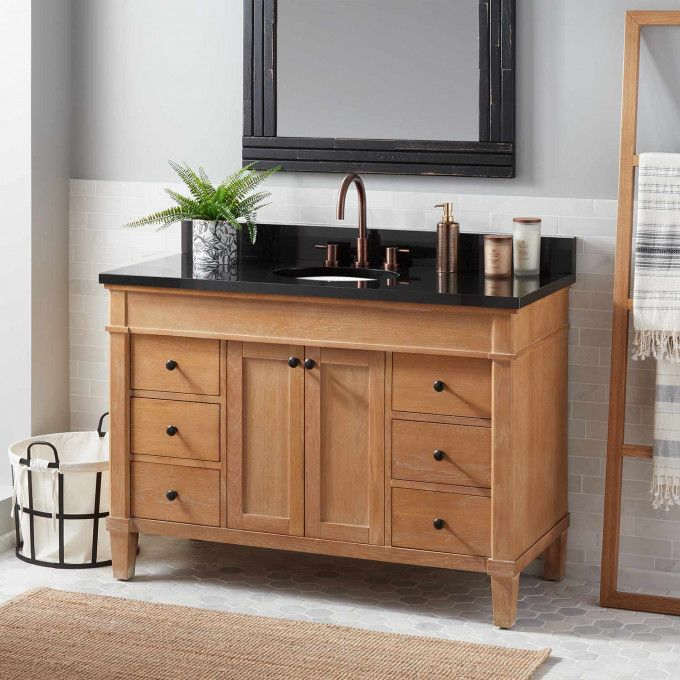 48 Marilla Vanity For Undermount Sink With Images Wood Bathroom Vanity Double Sink Bathroom Vanity Wood Vanity