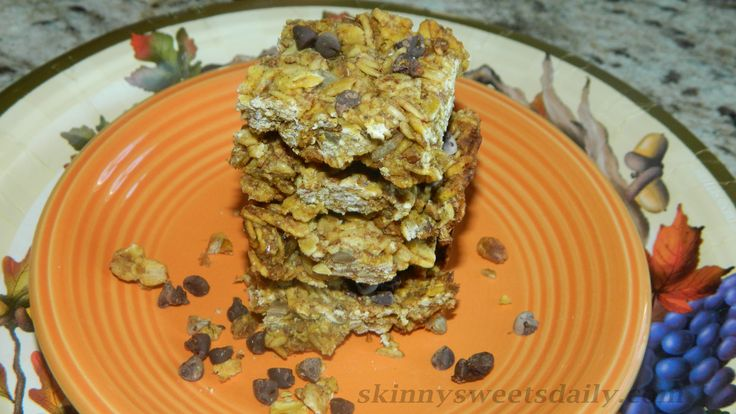Healthy Vegan Pumpkin Granola Bars | Desserts | Pinterest