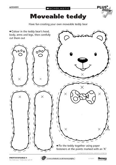 116 best images about teddy bear preschool theme on for Make your own teddy bear template