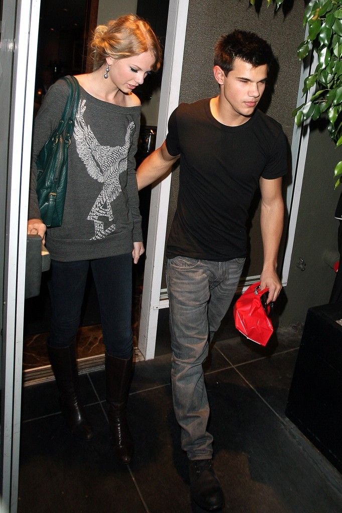 Taylor Swift and Taylor Lautner at Chris Steakhouse in Beverly Hills, CA
