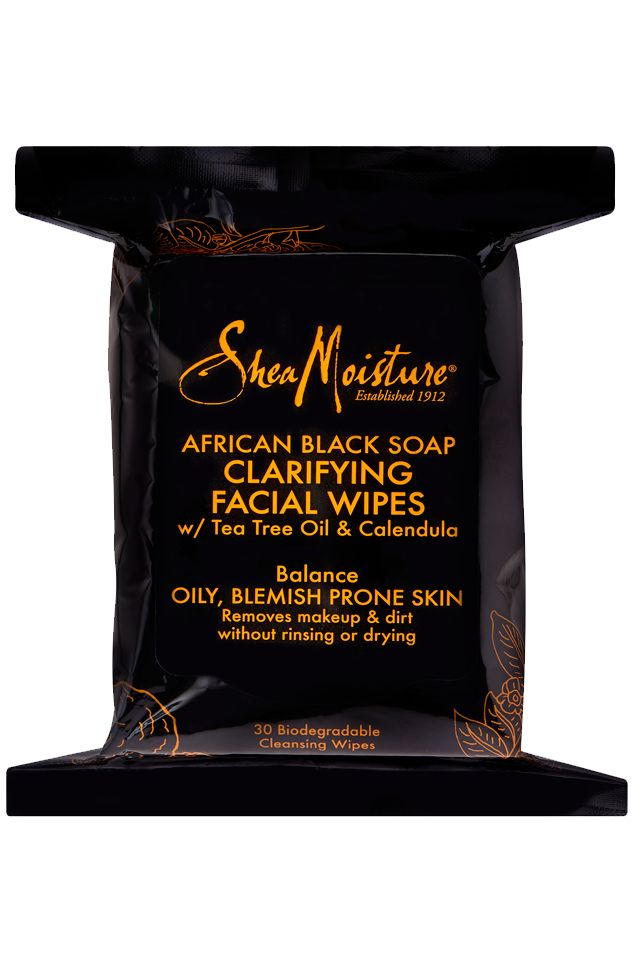 Shea Moisture | African Black Soap Clarifying Facial Wipes