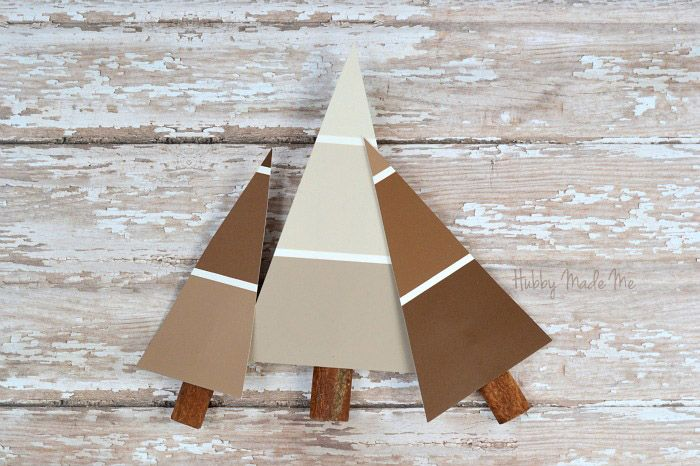 Paint chip Christmas Trees | Roadkill Rescue
